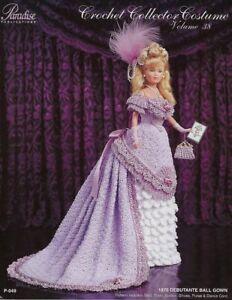 1876-Debutante-Ball-Gown-Crochet-Collector-Costume-Vol-38-Paradise-Publications