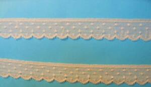 """French Lace Edging 3/4"""" Ecru- Capitol Imports- 21186"""