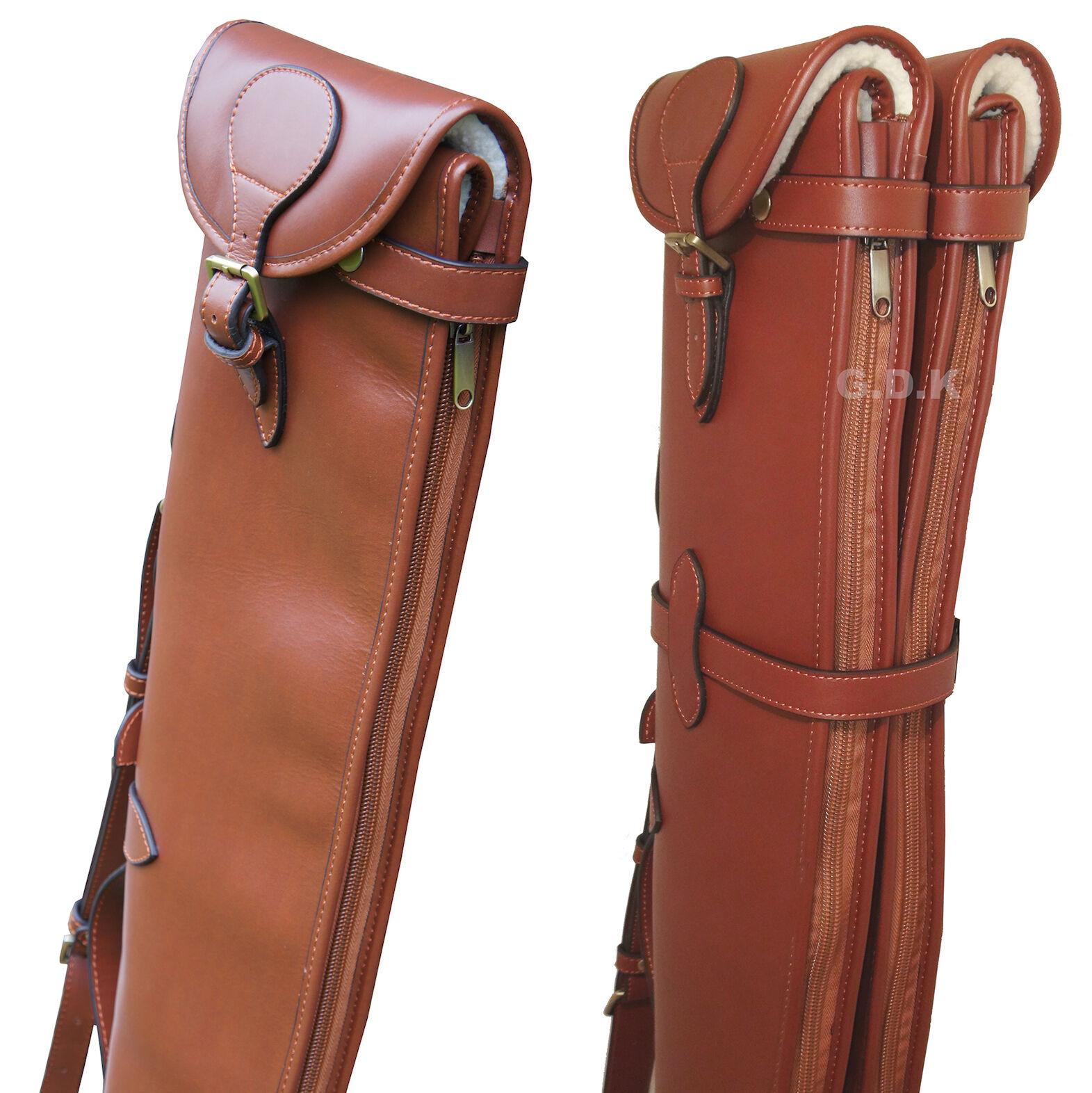 marrón einzene o dobles de cuero escopeta antideslizante, desmontables, Guardian Case