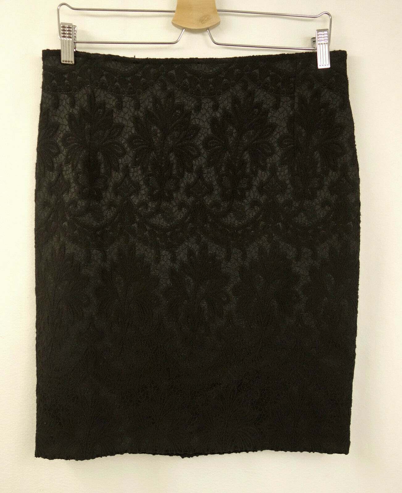 199 NEW Sem Per Lei Skirt Gr38 Skirt Pattern Lace Look Baroque Black