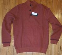 Mens Arabian Spice G.h. Bass & Co. Thermal Button Front Sweater Size M $94