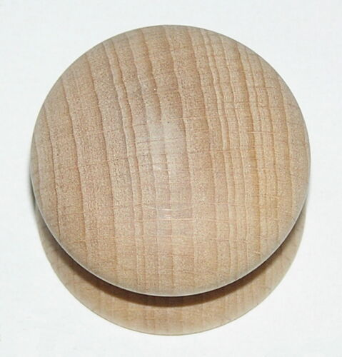 Beech Knobs Various Sizes Unfinished Wooden Door Handles Drilled Pack of 4
