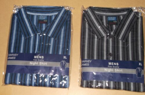 L MENS HARVEY JAMES FLANNEL//BRUSH COTTON  NIGHTSHIRT UK SIZES M XL