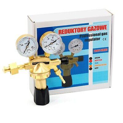 """Stickstoff Reduzierer 0-50 Bar Druckregler Druckmesser Klimaanlage 1//4/"""" 6,3mm"""