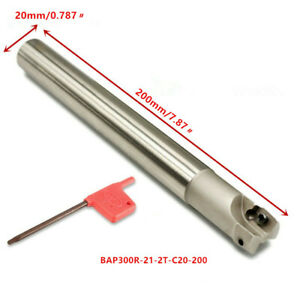 1PC 300R C20-21-200 Indexable Boring Cutting holder End Mill Cutter For APMT1135