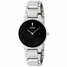 New Citizen Axiom GA1050-51E Eco-Drive Date Stainless Steel Women's Watch