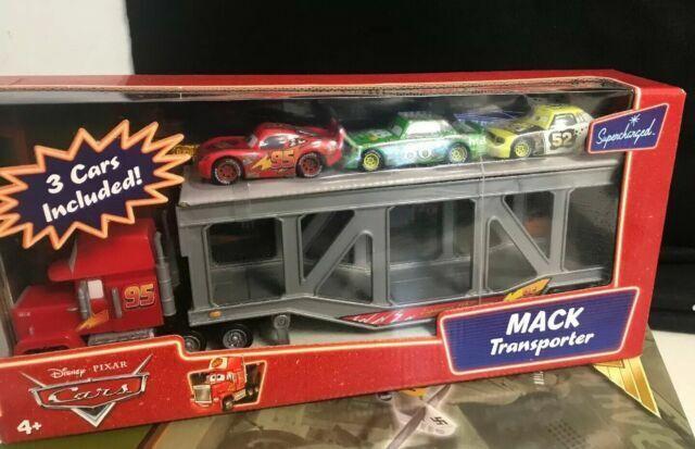 Mack Transporter Disney Pixar Mattel L4055 W 3 Cars Supercharged