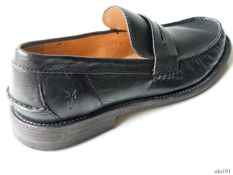 NIB mens FRYE 'Otis' schwarz - leather penny loafers schuhe 7 - schwarz very comfortable e8cf03