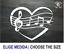 CORAZON NOTAS MUSICALES HEART MUSICAL NOTES VINILO PEGATINA VINYL STICKER DECAL