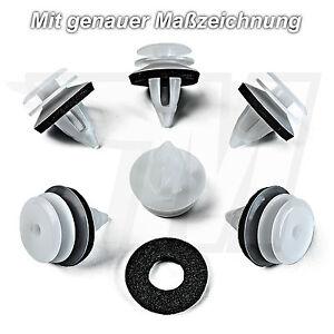 10x-Interni-Fissaggio-Clip-con-Guarnizione-Per-BMW-Mini-51418224768