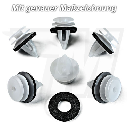 5x Innenverkleidung Befestigung Clips mit Dichtung für BMW MINI51418224768