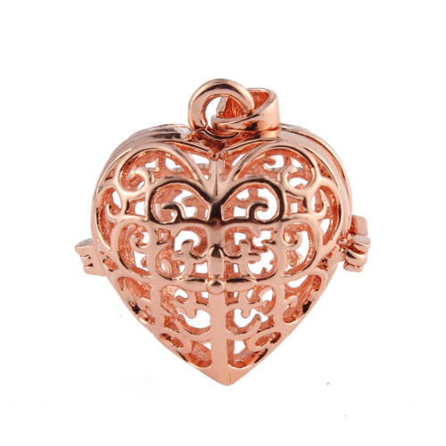 Heart Locket Pendant Fragrance Essential Oil Aromatherapy Diffuser DIY Necklace