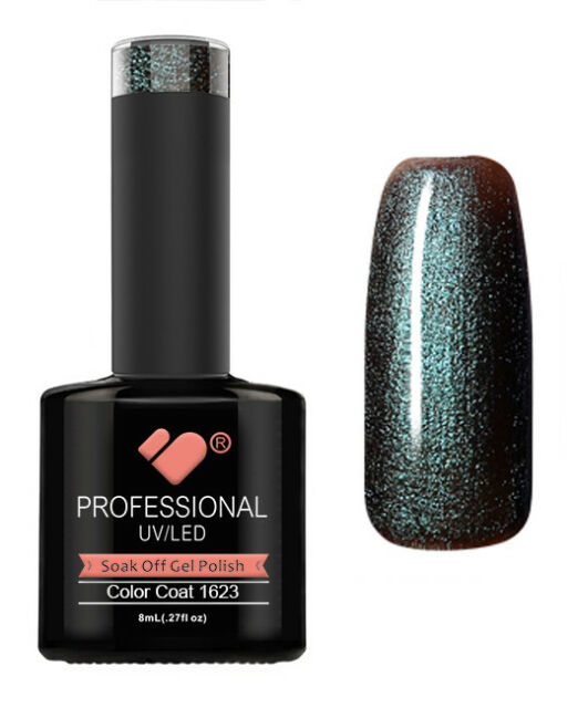 1623 VB Line Green Chameleon Metallic - gel nail polish - super sale!