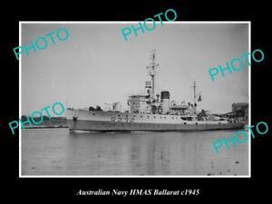 OLD-8x6-HISTORIC-AUSTRALIAN-NAVY-PHOTO-OF-THE-HMAS-BALLARAT-SHIP-c1945