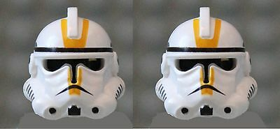 LEGO® Helmet from EP 3 YELLOW Clone Trooper  X 2 from 7655 Episode 3
