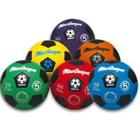 Macgregor® Multicolor Rubber Soccerball - Green - Size 5 on sale