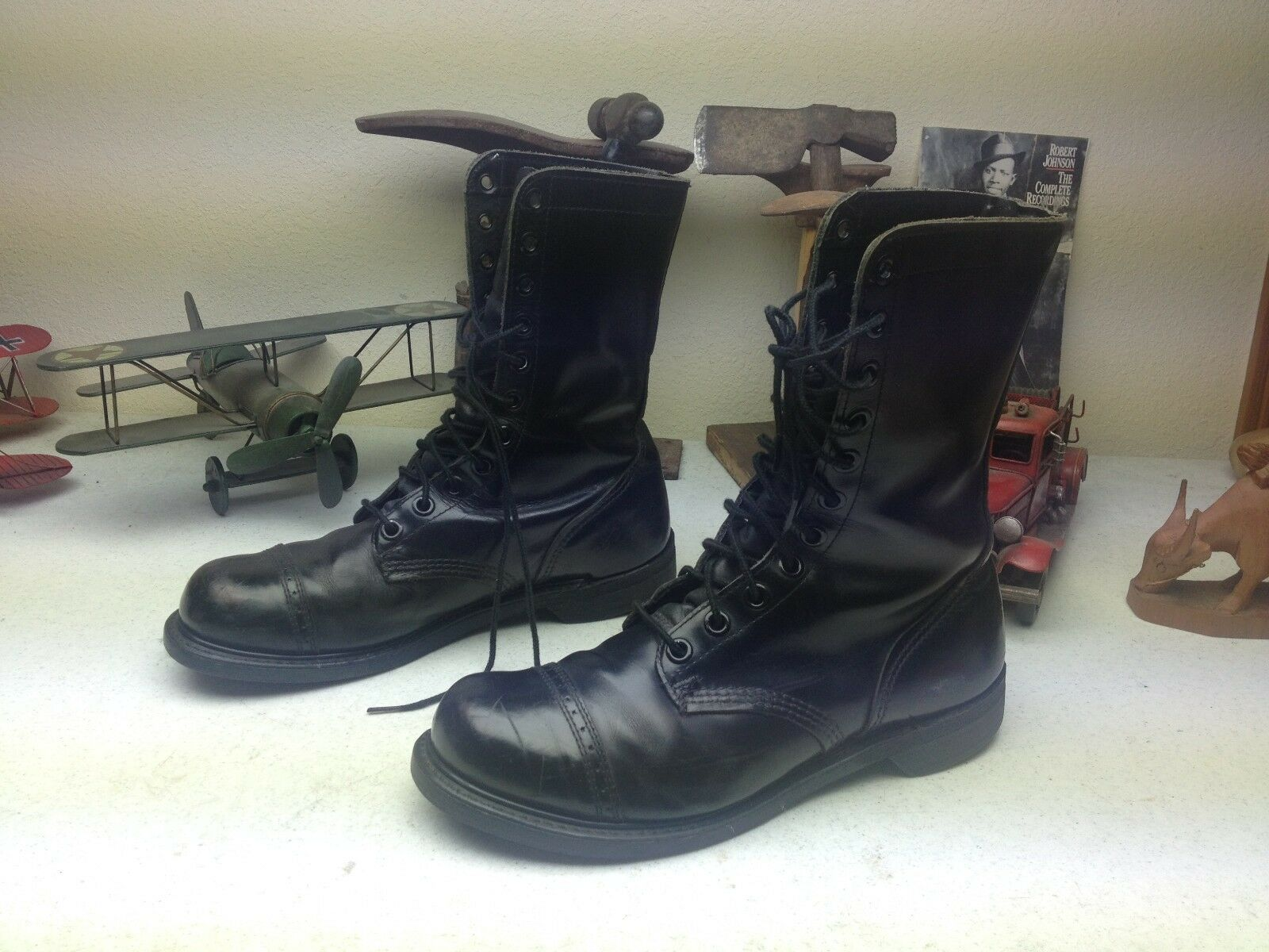 CAROLINA ROT BIRD BLACK JUMP MADE IN Stiefel USA DISTRESSED ENGINEER BOSS Stiefel IN 11 D 5ddb9a