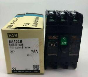 New FOR Fuji EA103B 3P 75A Circuit breaker