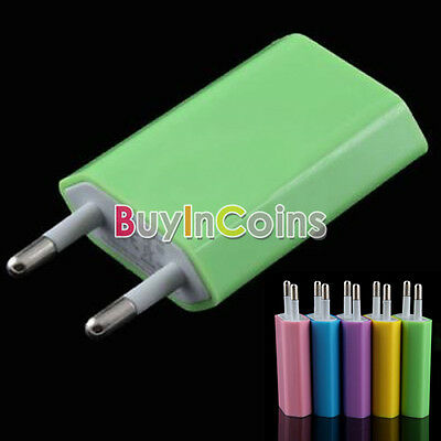 New USB Wall Home Charger AC Adapter EU Plug Portable for Cell Phone Tablet PC