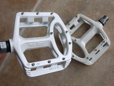 New Wellgo MG-1 Titanium Spindle Axle Mountain BMX Bike Platform Pedals Silver
