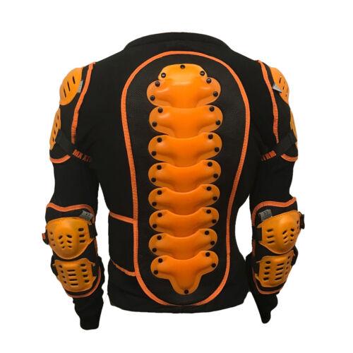 Motorcross Kinder Körperpanzer Jacke MX Rüstung ATV Schutz Sportjack EDGE Orange