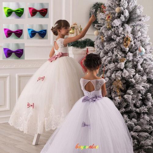 Flower Girl Dress Kids Birthday Wedding Pageant Prom Gown Princess ...