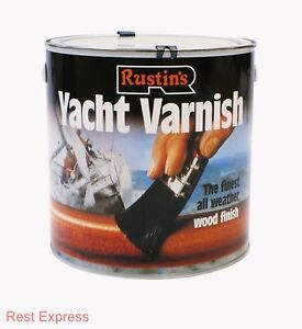 Image Is Loading RUSTINS YACHT VARNISH Gloss Or Satin Lacquer For