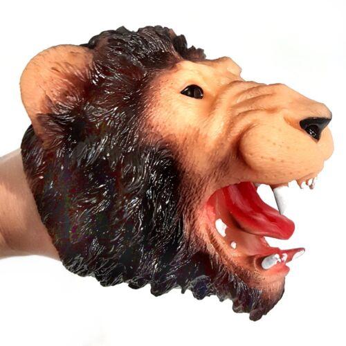 Rubbery Lion Hand Puppet Toy Story Telling School Teachers Girls Boys Gift