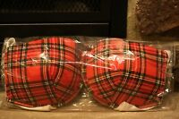 Tilted Kilt Authentic Bra Red Plaid Push Up With White Silk Back & Strap 34c