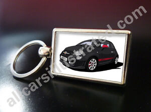 fiat 500 abarth metal key ring choose your car colour and. Black Bedroom Furniture Sets. Home Design Ideas