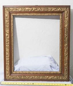 Vintage-Gilded-Wood-Carved-Picture-Art-Frame-mv