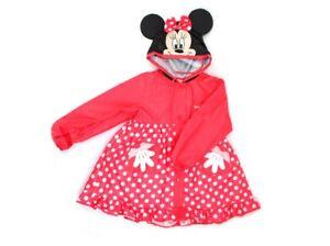 9b2a38429 Disney Minnie Mouse Hooded Waterproof Rain Coat Jacket for Kids Girl ...