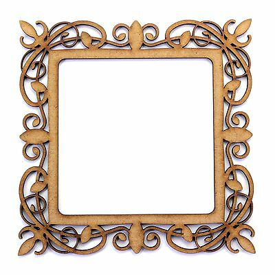 Elegant Photo Frame. 2mm MDF Craft Shape 100mm x 100mm