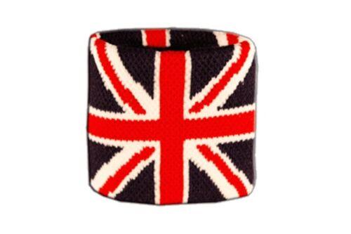 Schweißband Fahne Flagge Großbritannien 7x8cm Armband für Sport