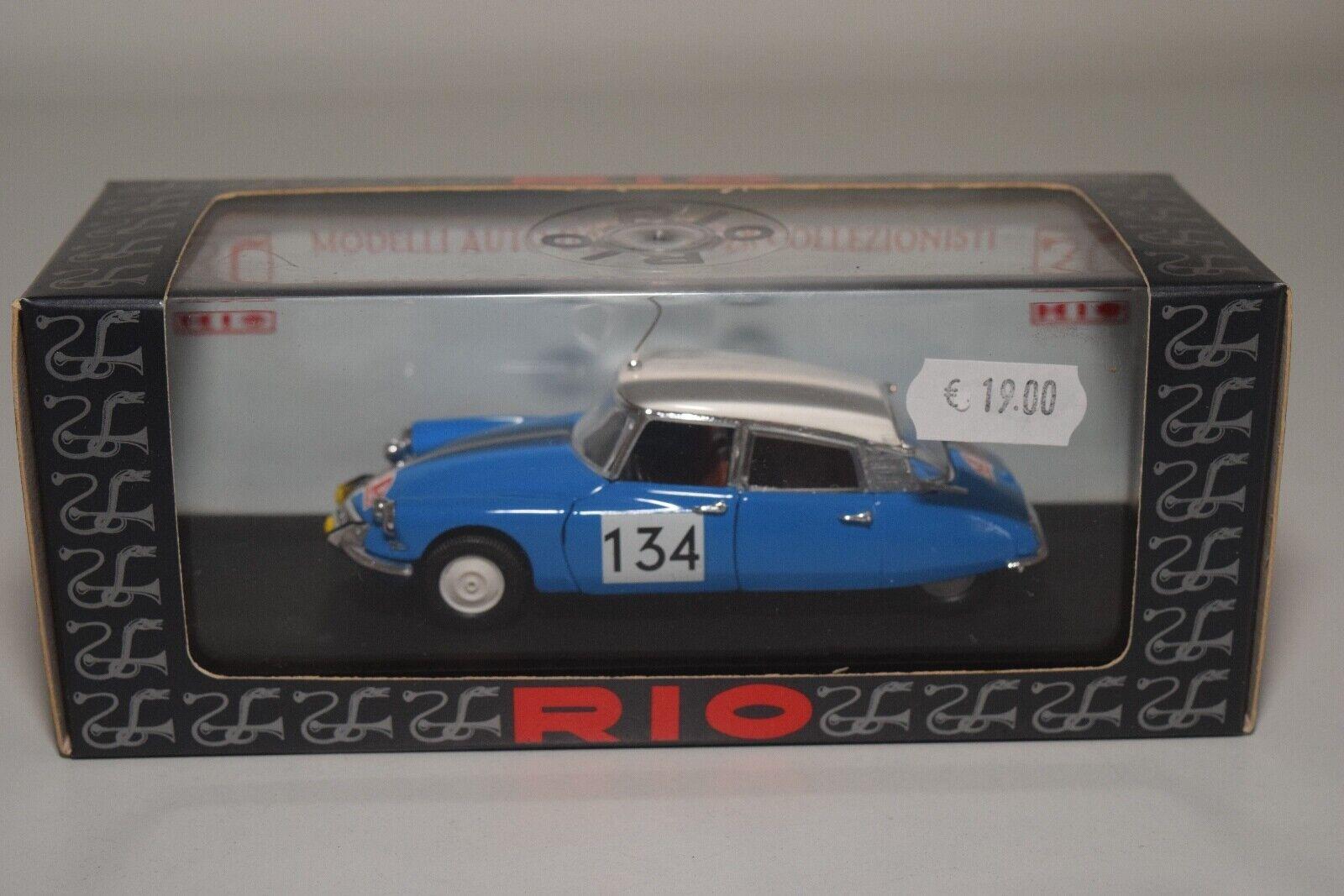 @. 1 43 RIO SL069 CITROEN DS 21 RALLYE MONTE CARLO 1967 blueE MIB RARE