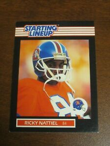 Ricky Nattiel 1989 Kenner Starting Lineup Card - Denver Broncos