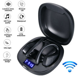 Bluetooth 5 0 Headset Tws Wireless Earphones Earbuds Stereo Headphones Ear Hook Ebay