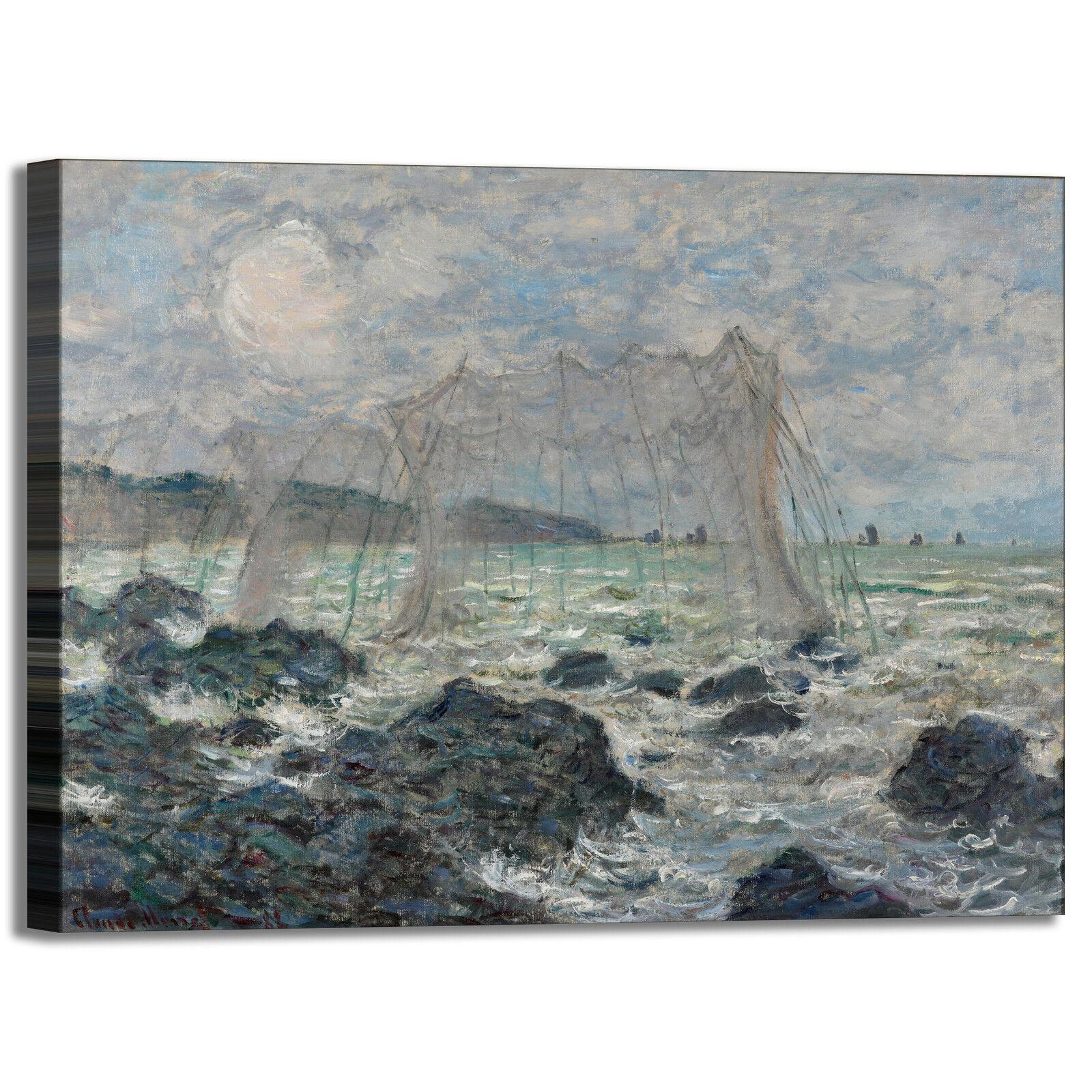 Monet reti da pesca design quadro quadro design stampa tela dipinto telaio arRouge o casa 4aa5e0