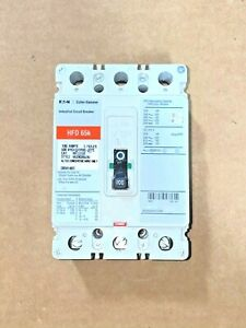 New Eaton HFD 65K HFD3100 3 Pole 100 Amp 600V Red Label Circuit Breaker