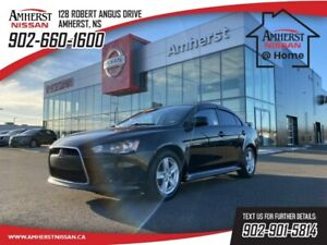 2014 Mitsubishi Lancer GT-$72 B/W | ONE OWNER | LEATHER |  5 SPEED | SUNR