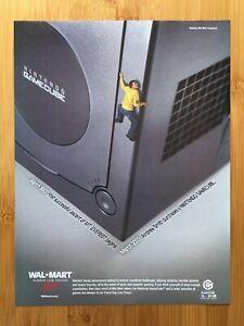 Nintendo Gamecube 2003 Jet Black Console/System Print Ad/Poster Walmart Promo