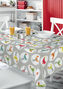 Image Is Loading Funky Chickens Multi VINYL WIPE CLEAN PVC TABLECLOTH