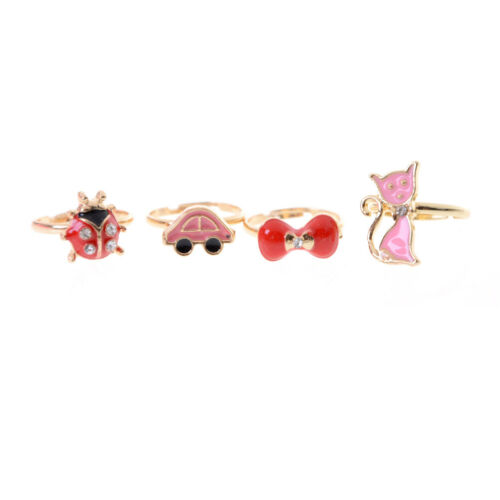 2X Einstellbare Süße Legierung Ring Kinder Kostüm Schmuck Spielzeug GeschenkZUHN