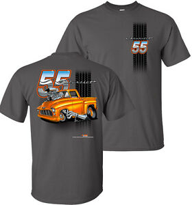 efe0e79c Details about T-Shirt w/ 1955 Chevrolet Pickup Truck Tooned Up