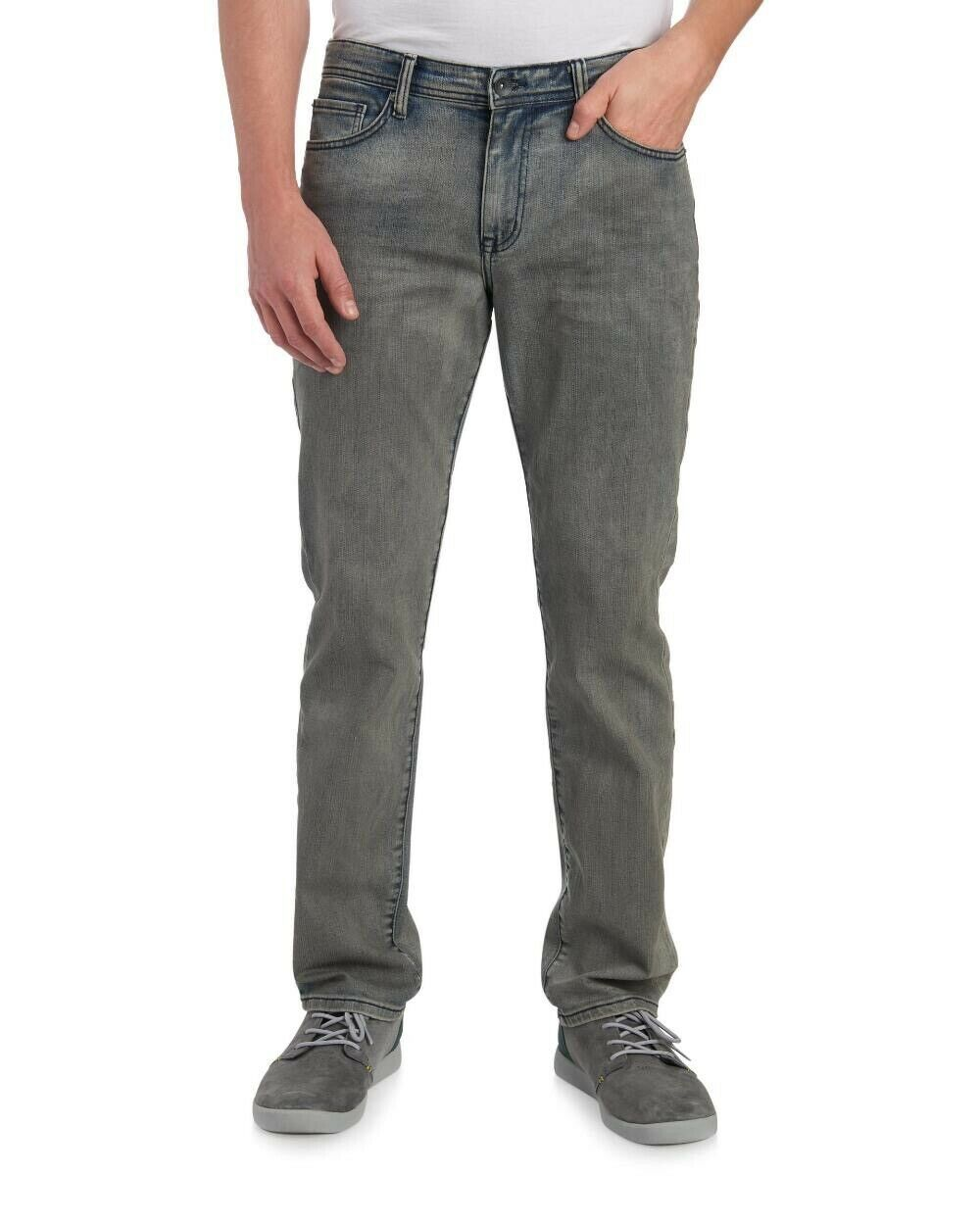 William Rast Mens Smoke Bleach Slim Straight bluee Jeans NWT  Size 36 x 32