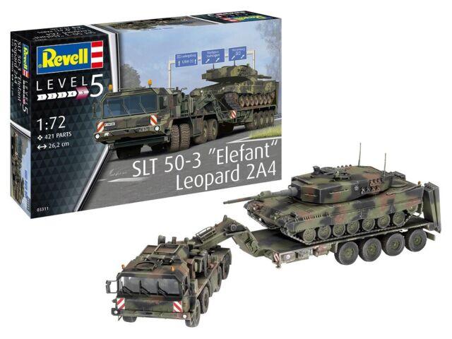 """Revell 03311-1/72 Slt 50-3 """"Elefante"""" + Leopardo 2A4 - Nuevo"""