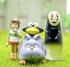 3PCS-Spirited-Away-No-Face-Man-Chihiro-Resine-Figure-Maquette-Jouet