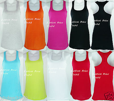 Racerback Tank Top 100% Cotton Basic Solid Hot Tee Cami New TT402