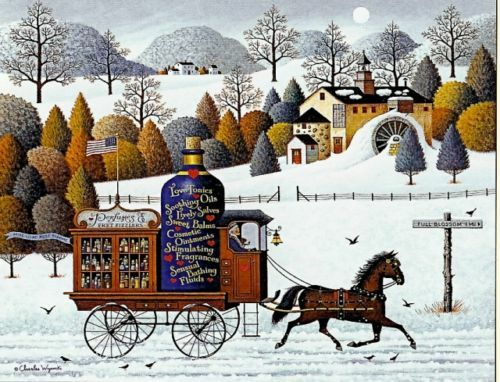 Charles Wysocki Hand Signed & Numbered Print PROMISES PROMISES 1837/2000 Winter