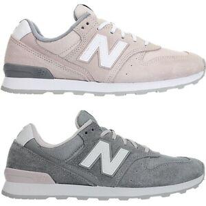 Details zu New Balance WR996 Damen low-top Sneakers grau rosa  Freizeitschuhe Wildleder NEU